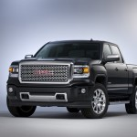2014 GMC Sierra Denali Crew Cab Front Three Quarter in Iridium Metallic - in studio